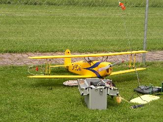 Die ersten Modellflugzeuge beim MFG Wertingen